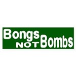Bongs not Bombs (bumper sticker)