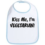 Kiss Me Vegetarian Bib