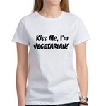 Kiss Me Vegetarian Women's T-Shirt