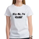 Kiss Me I'm Vegan Women's T-Shirt