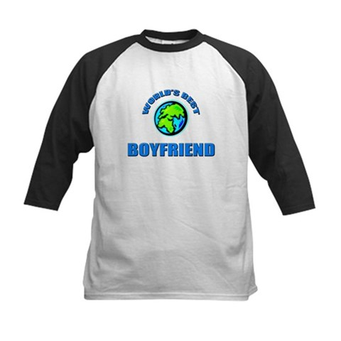World's Best BOYFRIEND Cool Kids Baseball Jersey by CafePress