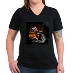 Witch with Jack O'Lantern and Bats T-Shirt