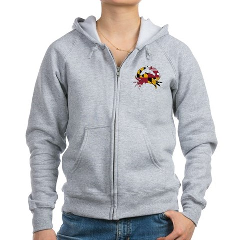 Product Image of Maryland State Flag Crab Women's Zip Hoodie