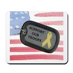 USA Flag Troops Mousepad