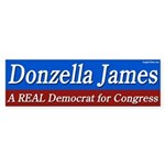 Donzella James for Congress bumper sticker