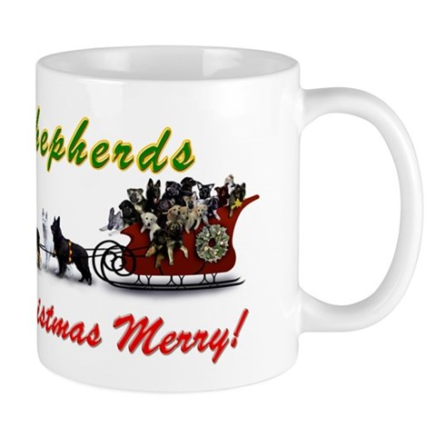 Shiloh Shepherds Make Your Christmas Merry Christmas Mug by CafePress