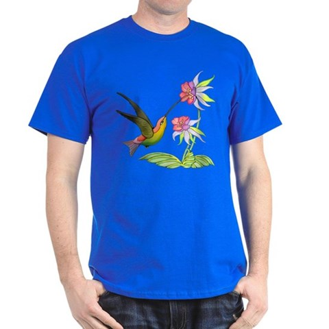 Hummingbird Flight  Art Dark T-Shirt by CafePress