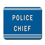 Police Chief Blues Mousepad