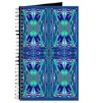 """Blue """"Stained Glass"""" Cross Journal"""