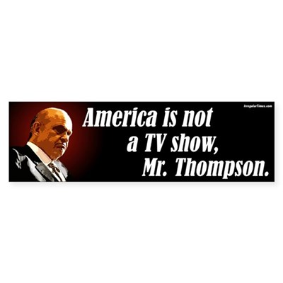 America is not a TV Show Fred Thompson