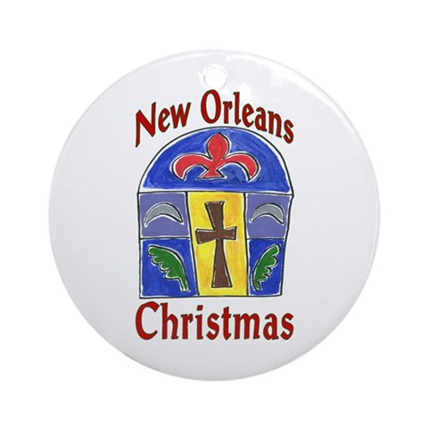 Matisse Style New Orleans Christmas Round Ornament by CafePress