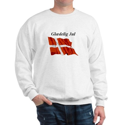 Danish Christmas Flag Christmas Sweatshirt by CafePress