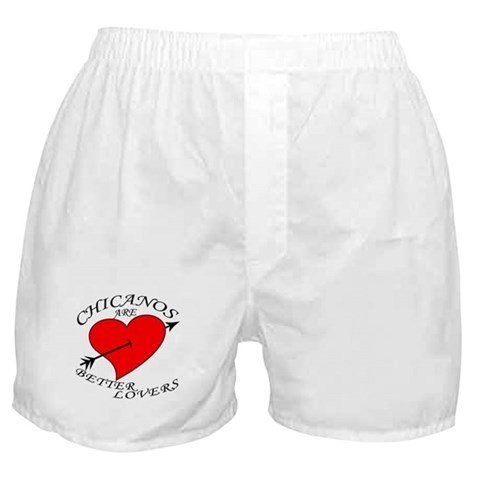 - Chicano are Better Lovers Baseball Boxer Shorts by CafePress