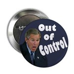 George W. Bush Out Of Control Button