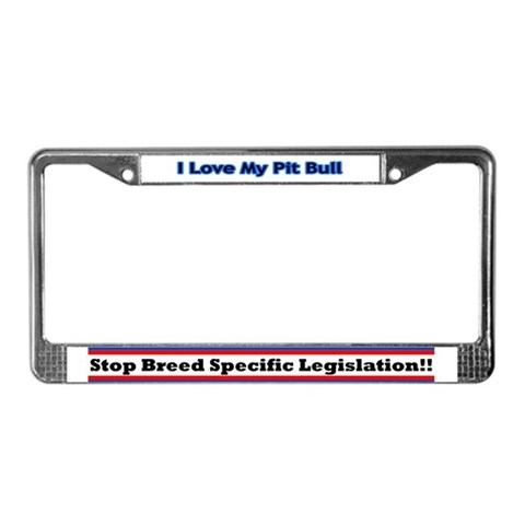 - Blue Pets License Plate Frame by CafePress