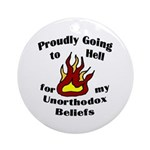 Proudly Going to Hell (holiday ornament)