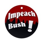 Impeach Bush! (Xmas Tree Ornament)