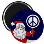 Santa Claus Peace Sign Magnet