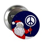 Santa Claus Peace Sign (Pinback Button)