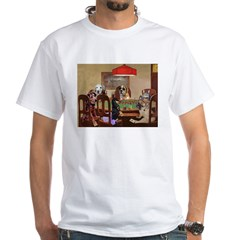 Poker Playing Dogs White T-Shirt