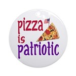 Pizza is Patriotic (christmas tree ornament)
