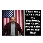 Eight Never Take Away My Flag Postcards
