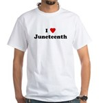 I Love Juneteenth White T-Shirt
