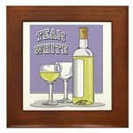 Team White Wine Plaque