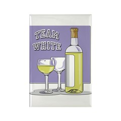 Team White Wine Magnet