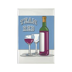 Team Red Wine Magnet