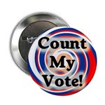 Ten Count My Vote Election Buttons