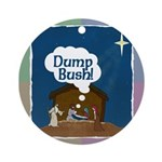 "Jesus Says ""Dump Bush!"" Tree Ornament"