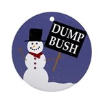 "Snowman Says ""Dump Bush"" Ornament"