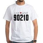 Live Love 90210 White T-Shirt