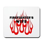 Firefighters Wife Gift Mousepad, t-shirts, personalized tote bags, firefighter clocks and more designed just for you!  Click to see our fire fighter gift collection.........