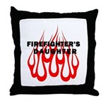 Firefighters Daughter Throw Pillow, gift ideas, t-shirts, mugs, baby bibs, decals, buttons, magnets and stickers! Click to browse our personalized firefighter gifts here...