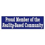 Reality-Based Community (bumper sticker)