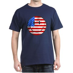 Smiley Face Fourth Of July Dark T-Shirt