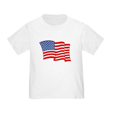 Product Image of American Flag 4th Of July Toddler T-Shirt