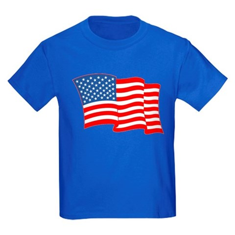 Product Image of American Flag 4th Of July Kids Dark T-Shirt