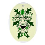 Green Man Oval Yule Tree Ornament