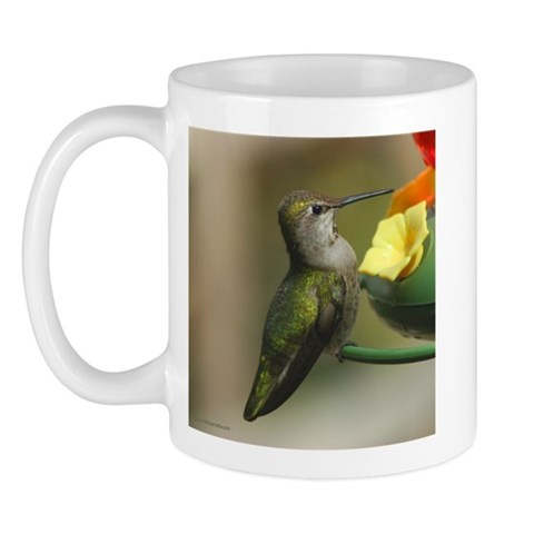 Hummingbird at the Feeder  Animals Mug by CafePress
