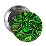 Green Man Motif Button