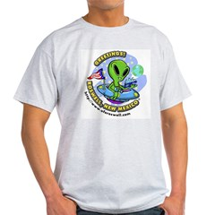 Roswell Alien Greetings! Ash Grey T-Shirt