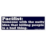 Definition of Pacifist Bumper Sticker