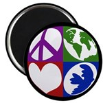 Peace, Earth, Love, Dove Magnet