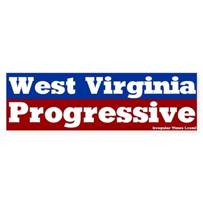 West Virginia Progressive Bumper Sticker