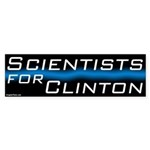 Scientists for Clinton Bumper Sticker