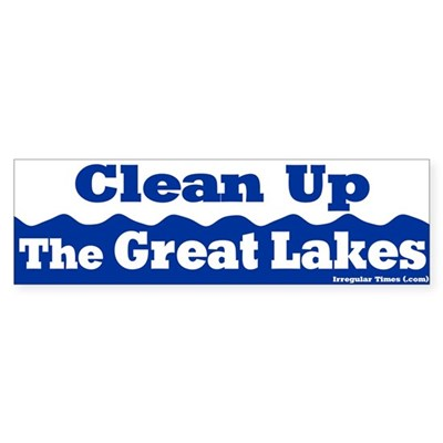 Clean Up Great Lakes Bumper Sticker