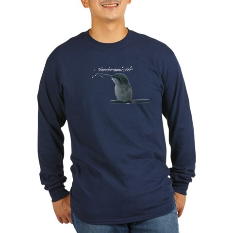 Hummingbird With Attitude  Funny Long Sleeve Dark T-Shirt by CafePress